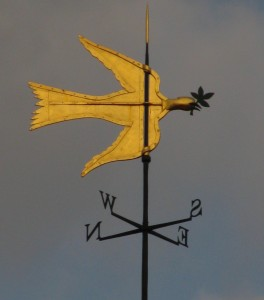 Weathervane atop the house at Mount Vernon. Photograph by author, November 2015.