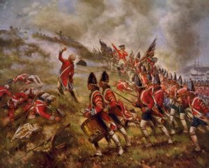 """""""Battle of Bunker Hill"""" by Percy Moran. Image courtesy of the Library of Congress."""