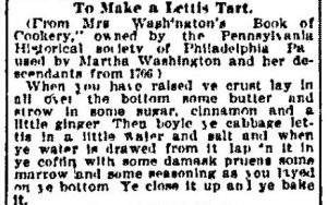 """To Make a Lettis Tart,"" Omaha World Herald, June 24, 1906, 8, Link to source."